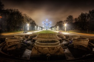 Behind the Atomium